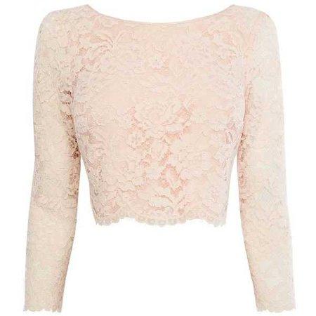 Crop Top - Pink Lace