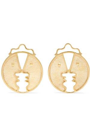 Paola Vilas   Henri gold-tone earrings   NET-A-PORTER.COM