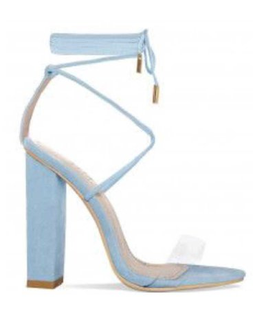 strappy baby blue heels