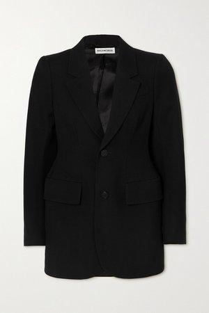 Black Hourglass wool blazer | Balenciaga | NET-A-PORTER