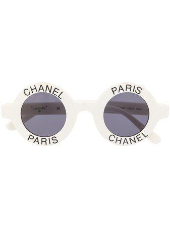 Chanel Pre-Owned Solglasögon Med Logotyp - Farfetch