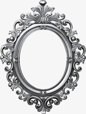 silver oval frame