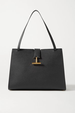 Black Tara textured-leather tote | TOM FORD | NET-A-PORTER