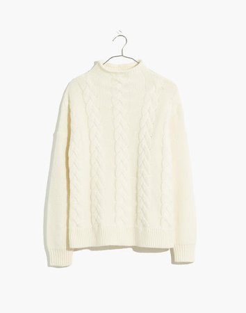 Grenville Cableknit Mockneck Sweater