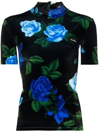 Richard Quinn floral-print short-sleeve Top - Farfetch