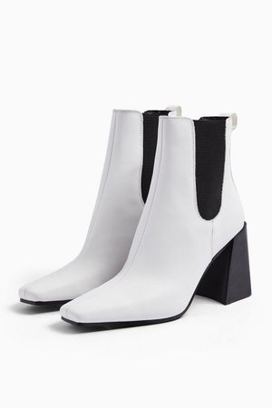 HARBOUR Leather White Chelsea Boots | Topshop