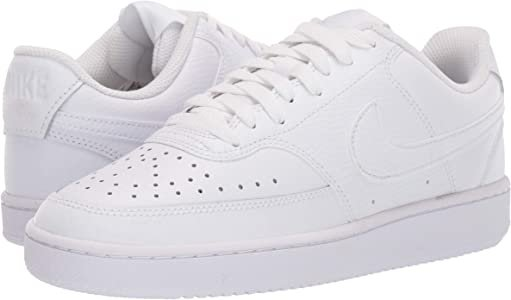 Amazon.com | Nike Women's Court Vision Low Sneaker, White/White-White, 8 Regular US | Fashion Sneakers