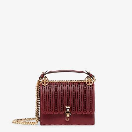 Burgundy leather mini-bag - KAN I SMALL | Fendi