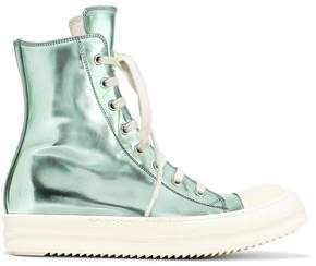 Metallic Faux Leather High-top Sneakers
