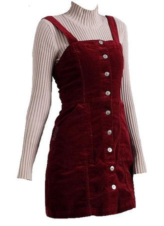red corduroy dress png