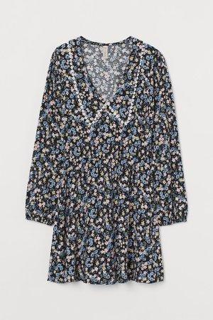 Collared Dress - Black