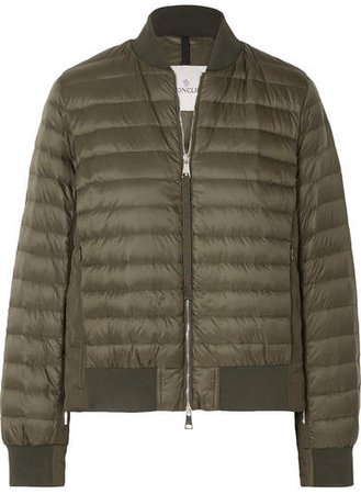 Quilted Shell Down Jacket - Army green