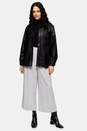 Crop Wide Pants With Linen