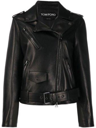 Tom Ford Leather Biker Jacket - Farfetch