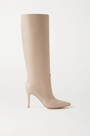 Neutral 85 leather knee boots | Gianvito Rossi | NET-A-PORTER