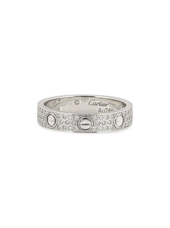 Cartier Pre-Owned Diamantring i 18K Vitguld - Farfetch