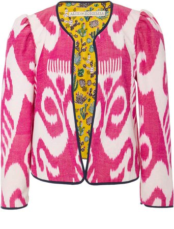 Sly Fox Printed Silk And Cotton-Blend Jacket