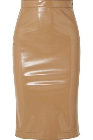 Burberry   Vinyl midi skirt   NET-A-PORTER.COM