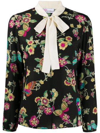 RedValentino floral-print Blouse - Farfetch