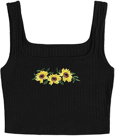 Floerns Women's Casual Print Summer Sleeveless Crop Tank Top at Amazon Women's Clothing store