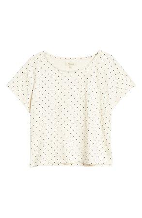 Madewell Polka Dot Cap Sleeve Boxy T-Shirt   Nordstrom