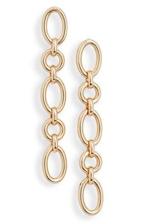 Halogen® Oval Link Linear Earrings | Nordstrom
