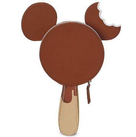 Disney Parks Mickey Mouse Ice Cream Bar Zipper Clutch Purse Bag Pouch NEW | eBay
