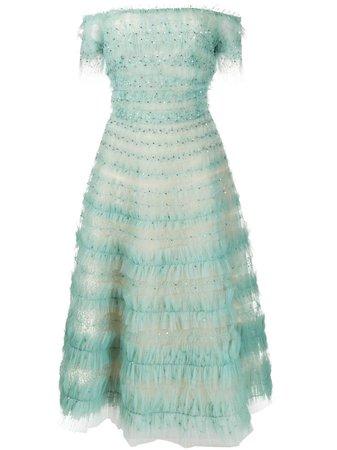 Marchesa, Embellished Tulle Dress