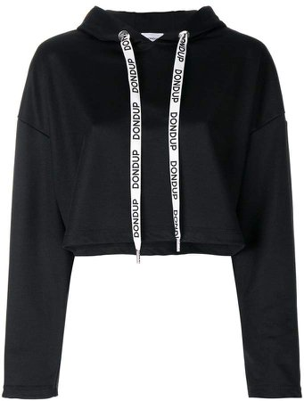 branded drawstring hoodie