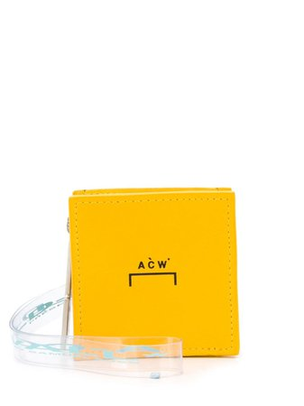 Shop yellow A-COLD-WALL* mini logo shoulder bag with Express Delivery - Farfetch