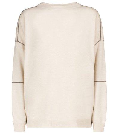 Brunello Cucinelli - Wool, cashmere and silk sweater   Mytheresa