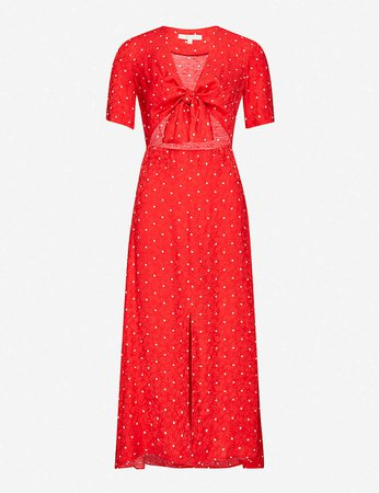 MAJE - Rinoui polka-dot midi dress | Selfridges.com