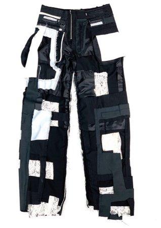 layered destroyed slacks