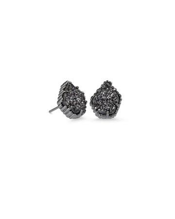 Tessa Gunmetal Stud Earrings