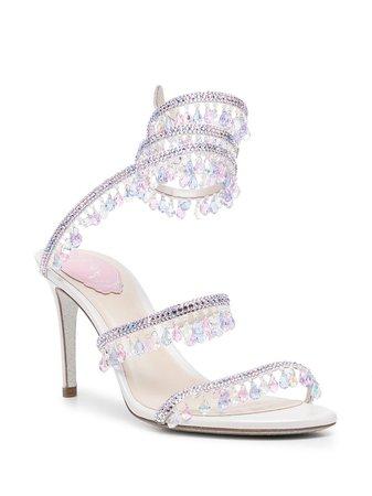 René Caovilla crystal-wrap Sandals - Farfetch