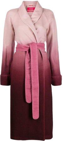 ombré robe coat