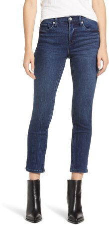 Madison High Waist Crop Straight Leg Jeans