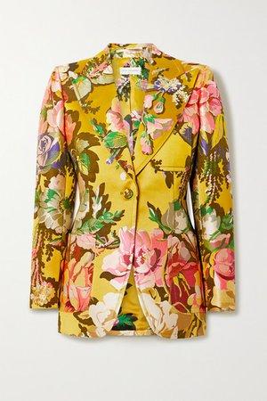 Dries Van Noten | Bailey floral-jacquard blazer | NET-A-PORTER.COM