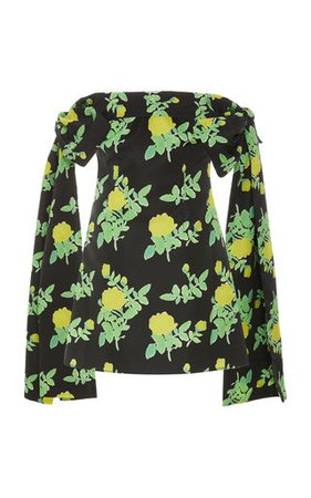 Draped Embellished Silk-Faille Mini Dress by Carolina Herrera | Moda Operandi