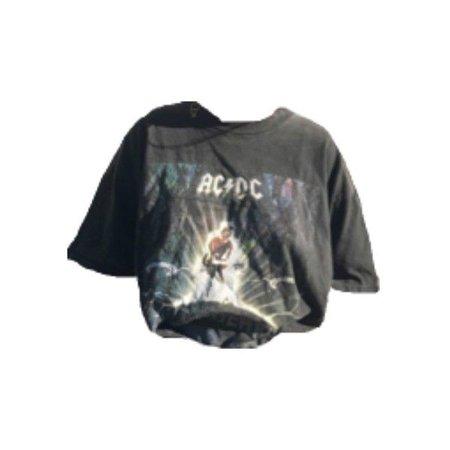 black acdc shirt