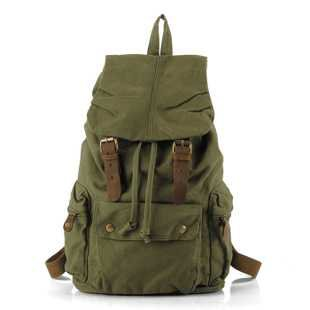 Military green canvas scout field backpack unisex on Storenvy