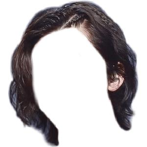 Long ish Black Dark Brown Hair with little Braids