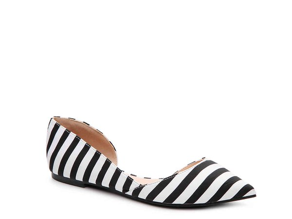 Journee Collection Cortni Striped Flat Women's Shoes | DSW