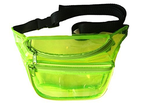 Clear Transparent Fanny Packs (Neon Green) - BUM BAG | BumBag, Fanny Pack, Fanny Packs, Waist Packs, Hiking Packs, Running Packs, Travel Packs and Tactical Packs