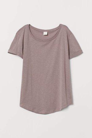 Modal-blend T-shirt - Brown