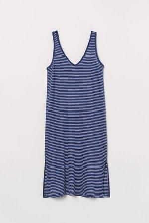 Linen Dress - Blue
