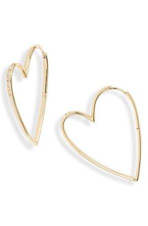 Kendra Scott Ansley Heart Hoop Earrings | Nordstrom