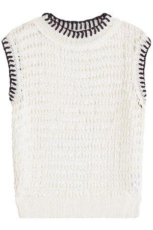 Linen Knit Vest Gr. DE 38