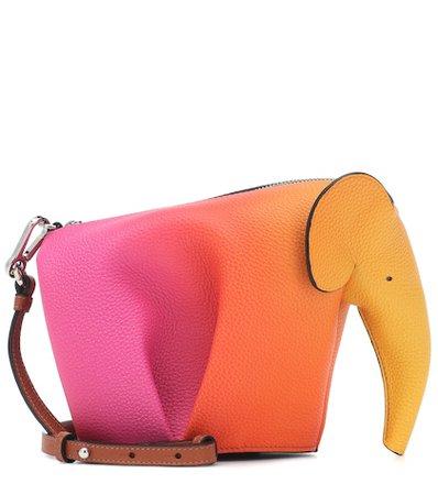 Elephant Mini leather shoulder bag