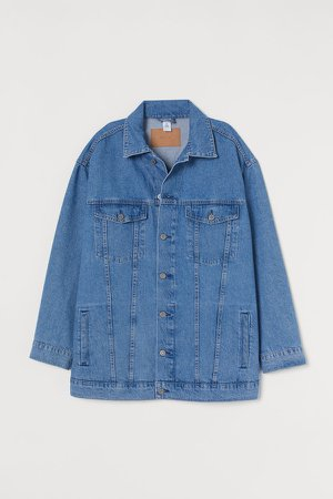 Oversized Denim Jacket - Blue